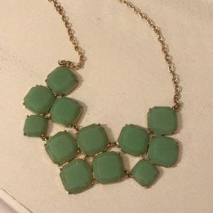 Jade color statement necklace